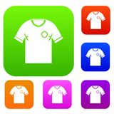 Soccer shirt set color collection Stock Photography