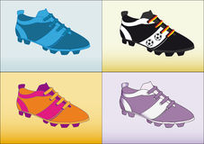 Soccer shoe football Stock Photos