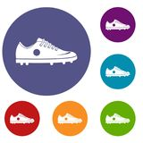 Soccer shoe icons set Royalty Free Stock Photography