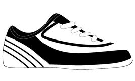 Soccer shoe, vector illustration Royalty Free Stock Images