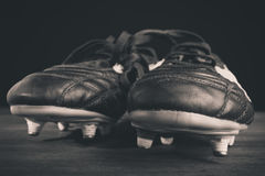 Soccer shoes. In blach and white Stock Photography