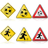 Soccer signs Royalty Free Stock Photo