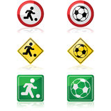 Soccer signs Royalty Free Stock Image