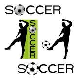 Soccer signs. Stock Photo