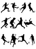 Soccer Silhouette. High detail  illustration of soccer silhouettes Royalty Free Stock Photos