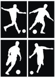 Soccer silhouette Royalty Free Stock Image