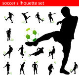 Soccer silhouette set Royalty Free Stock Image