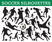 Soccer silhouettes vector illustration