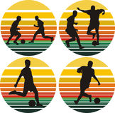soccer silhouettes on the background Royalty Free Stock Photography