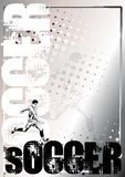 Soccer silver poster background 1 Royalty Free Stock Images
