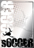 Soccer silver poster background 2 Stock Photos