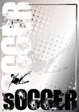 Soccer silver poster background 3 Royalty Free Stock Image