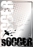 Soccer silver poster background 5 Royalty Free Stock Photos