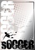Soccer silver poster background 5 vector illustration