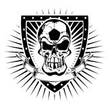 Soccer skull shield Royalty Free Stock Photography