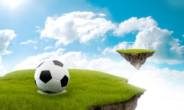 Soccer in the sky Stock Images