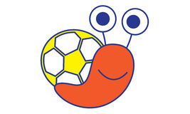 Soccer Snail Royalty Free Stock Image