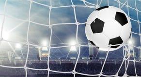 Soccer. Ball football goal ball net sport stock photos
