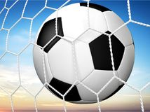Soccer. Ball football goal ball net sport stock illustration