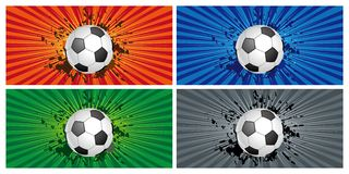 Soccer sport background Stock Photo