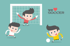Soccer sport. Cartoon illustration, vector Royalty Free Stock Image