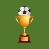 Soccer sport emblem icon Stock Images