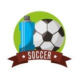 Soccer sport emblem icon Stock Image