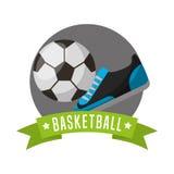 Soccer sport emblem icon Royalty Free Stock Image