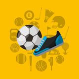 Soccer sport emblem icon Royalty Free Stock Photos