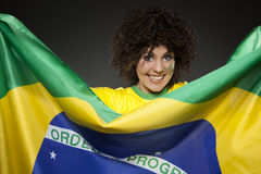 Soccer Sport Fan Supporter Brazil Stock Image