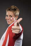 Soccer Sport Fan Supporter England Royalty Free Stock Photo