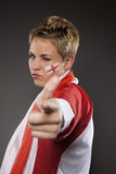 Soccer Sport Fan Supporter England Stock Photography