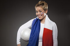 Soccer Sport Fan Supporter France Royalty Free Stock Photo