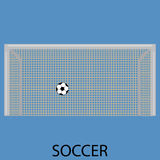 Soccer sport icon flat. Soccer sport icon. Football and soccer ball,  sports and soccer field, soccer stadium. Sport soccer football, competition championship Royalty Free Stock Photography