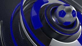 Soccer sports background. 3D Render of a sports soccer background Stock Photography