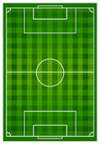 Soccer sports field with lines Royalty Free Stock Photos