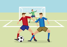 Soccer Sports Man-to-Man Defense Stock Image