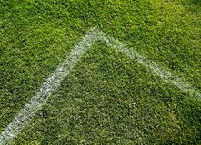 Soccer Square Angle. Photo Of A Grassy Soccer Field Angled Marked Zone Stock Images