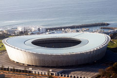 Soccer Stadium. In Cape Town, South Africa Royalty Free Stock Photos