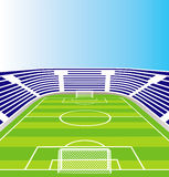 Soccer  stadium. Royalty Free Stock Photos