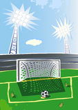 Soccer  stadium. Royalty Free Stock Photos