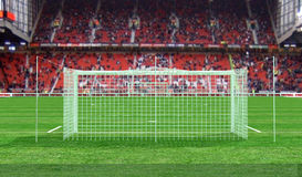 Soccer stadium. Back view of a soccer stadium - rendering Royalty Free Stock Image