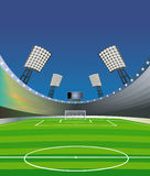 Soccer   stadium background. Stock Image
