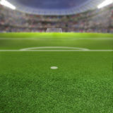 Soccer Stadium Background With Copy Space Royalty Free Stock Images