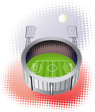 Soccer stadium from bird view. Royalty Free Stock Photography