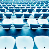 Soccer stadium chairs Stock Photography
