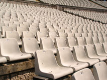 Soccer stadium chairs Stock Photo
