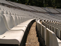 Soccer stadium chairs Stock Photos