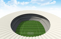 Soccer Stadium Day Royalty Free Stock Photos