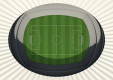 Soccer Stadium Day Stock Image